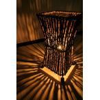 ライトフロアスタンドランプ間接照明スタンドライトフロアライトインテリア照明おしゃれ♪ココナツ木のランプ(S)♪アジアン照明バリ