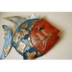 壁飾りウォールプレートアジアン雑貨バリ♪バリ島のアイアンお魚オブジェ(壁掛けタイプ)♪おしゃれエスニックアジアンインテリアインテリア雑貨