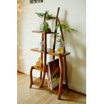 アジアン家具 バリ ♪【5月中旬入荷予定】チークの根のナチュラルラック(ナチュラル)♪ 飾り棚 収納 木製