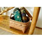 収納ボックスおもちゃ入れ小物入れアジアン雑貨バリ♪バリ島のラタン&バンブー脚付バスケット(Sサイズ)♪インテリア雑貨収納雑貨デザイン雑貨