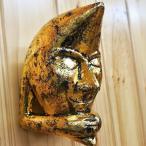 アジアンバリ雑貨♪にっこりムーン(アンティークゴールド)♪おしゃれインテリアエスニック壁飾りウォールデコ壁面装飾壁掛け