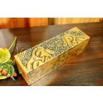 アジアン雑貨 バリ (ブッダのゴールドBOX(長方形) 小物入れ アクセサリーケース 木製 エスニック