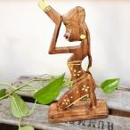 アジアン雑貨バリ(お祈り女性のオブジェM)おしゃれインテリアエスニック置物オブジェインテリアエスニック