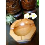 アジアン バリ 雑貨 (スワルの灰皿(8角) おしゃれ インテリア エスニック ウッド 灰皿 小物入れ