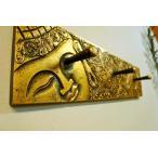 アジアンバリ雑貨(ブッダレリーフハンガー(ゴールド)おしゃれインテリアエスニックハンガーフック帽子掛け