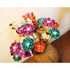 アジアンバリ雑貨♪バリ島のナチュラルフラワー造花♪おしゃれインテリアエスニック造花ナチュラル素材