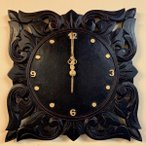 3月下旬入荷予定アジアン バリ 雑貨 ♪リースト彫刻壁掛け時計♪ おしゃれ インテリア エスニック ウォールクロック 壁飾り