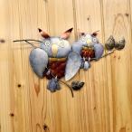 アジアンバリ雑貨♪壁掛けアイアンフクロウ親子♪おしゃれインテリアエスニック壁飾りウォールデコ