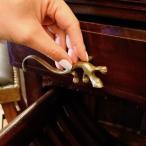 アジアンバリ雑貨♪トカゲの真鍮ハンドル(2コセット)♪おしゃれインテリアエスニック金具取っ手机アンティーク