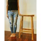 アジアン家具木製バリ♪チーク材KANAカウンターチェアー(75cm)♪おしゃれインテリアエスニックハイスツールバーチェア