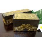 小物入れアクセサリーケース収納ボックス木箱薬箱アジアン雑貨バリ♪ゴールドマークBOX(A/B)♪おしゃれインテリア雑貨収納雑貨デザイン雑貨