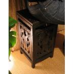 ショッピングエスニック アジアン家具 バリ ♪ロンボク透かし彫り収納スツール♪ スツール 収納 木製 ボックススツール エスニック