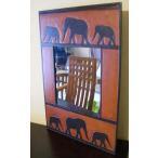 アジアン雑貨鏡バリ(ゾウのミラー)おしゃれ壁掛けミラースタンドミラー壁掛け鏡ウォールミラーアジアンインテリアインテリア雑貨