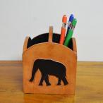 ペン立て小物収納小物入れ収納ボックス木箱木製天然木アジアン雑貨バリ♪アニマル彫刻ペン立て♪おしゃれインテリア雑貨収納雑貨デザイン雑貨