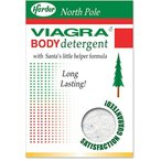 カード グリーティングカード  Viagra Body Detergent Christmas Joke Greeting Card