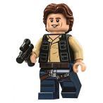 レゴ LEGO Star Wars Minifigure from Death Star - Han Solo Wavy Hair with Blaster (75159)