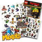 レゴ Lego Ninjago Stickers Party Favors Pack -- Over 295 Lego Ninja Stickers with Bonus Lego Mixels Temporary Tattoos (Lego Party Supplies) (Ninjago