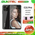 Oukitelスマートフォン,c21 pro,4GB,64GB,6.39インチ,HD,21MPバックカメラ,スマートフォン,Android 11,O