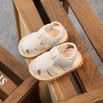 ベビーサンダル キッズ サンダル ベビーシューズ ファーストシューズ 赤ちゃん 柔らかい ゴム靴底 笛付き 可愛い シンプル 夏用 脱ぎ履きがしやすい11cm-13cm