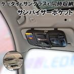 サンバイザーポケット 収納 車 車用品 収納バッグ インナーポケット付き 便利 カード入れ 小物入れ スマホ収納 サングラス 駐車券 ETCカード イヤホン ケーブル