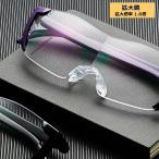 1.6倍 眼鏡型拡大鏡 ルーペ ブルーライトカット メガネの上から使用可能