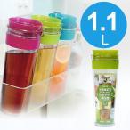 麦茶ポット 横置き 耐熱 スリムジャグ 1.1L アボガド( 冷水筒 水差し タケヤ )