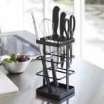 キッチンツールスタンド キッチンツール&ナイフスタンド タワー ブラック ( キッチン小物収納 )