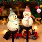 クリスマス 雪だるま LED ガーデンライト ソーラーライト 芝生ランプ 屋外 夜景 ホームガーデン スポットライト  防水 夜自動点灯 太陽光発電