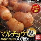 焼き肉 焼肉 セット 肉 バーベキューセット マルチョウ 味噌だれ漬けメガ盛セット 1kg 送料無料 BBQ 焼き肉