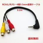 RCA(L/R/V)→4極3.5mm変換ケーブル 0.2m