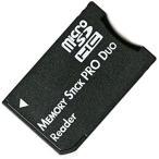 送料無料 変換アダプター microSDHCカード to メモリスティックPRO Duo 並行輸入 バルク品 ノーブランド