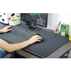 送料無料 デスクマット つや消し レザー調 大型 40cm×80cm ブラック