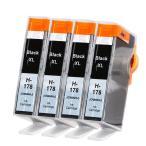 Yahoo!YIYI店HP 178XL ブラックお得な4本セット HPプリンター用互換インク ICチップなしCB321HJ