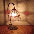 ステンドガラスランプ 4インチ・吊り型ランプ(レッドポイント) ステンド 照明 ランプ ステンドランプ 間接照明 照明 ライト LED対応 【P2倍】