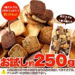 生おから100% 豆乳おからクッキー 3種 250gお試し(プレーン・ココア・セサミ) 【訳あり】ゆうメール便 送料無料