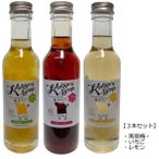 【3種セット】 無添加 かき氷シロップ 〈南高梅/いちご/レモン〉 各250g 信州自然王国