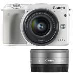 《新品》 Canon(キヤノン) EOS M3 ダブルレンズキット2 ホワイト