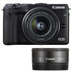 《新品》 Canon(キヤノン) EOS M3 ダブルレンズキット2 ブラック