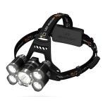 LED ヘッドライト usb 充電式 ヘッドランプ 高輝度CREE T6 角度調節可能 懐中電灯 防水 4モード点灯 照明 充電式電池付属 アウトドア