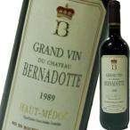 (赤ワイン)シャトー・ベルナドット 1989 wine