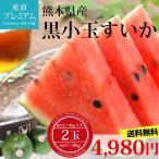すいか 黒小玉すいか 2玉(約3.5〜4kg/1玉) 熊本県