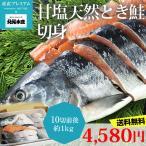 鮭 甘塩天然とき鮭 切身 約1kg 10切前後