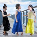 子ども ワンピース ノースリーブ ラッシュガード uvカット ロング丈ワンピ 子供 ドレス フォーマル キッズ ワンピース マキシ 女の子 子供服 100-160cm