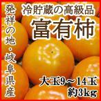 富有柿 岐阜産 個別パック 本貯蔵 8〜15玉 約3kg 贈答用 ご予約 送料無料 訳あり品ではございません