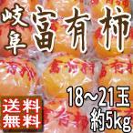 柿子 - 富有柿 柿 岐阜産 個別貯蔵 18〜21玉5kg 送料無料 贈答用 訳あり品ではございません