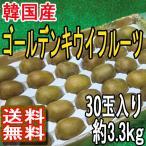 韓国産 ゴールデンキウイフルーツ 30玉入り 約3.3kg 送料無料