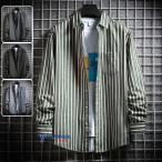 ストライプシャツ メンズ ビジネス 長袖シャツ カジュアルシャツ 40代 50代 トップス スリム 通勤