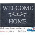 Welcome Home anthrazit A004A 50×70cm (1枚) クリーンテックス wash+dry