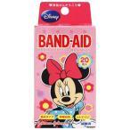 バンドエイド 防水テープ ディズニーのなかまたち ミニーマウス 20枚入 救急絆創膏