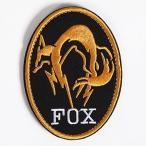 Catsobat FOXHOUND サバイバルゲーム ハロウィンコスプレ ミリタリーパッチ ベルクロワッペン 刺繍タイプ タイプ2 ゴールド